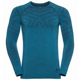 Odlo, Natural + Kinship Warm BL, camisa termoactiva, hombres, melange azul