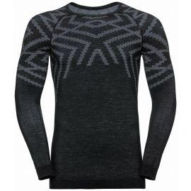 Odlo, Natural + Kinship Warm BL, camisa termoactiva, hombres, melange negro
