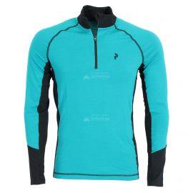 Peak Performance, Magic Half Zip, camisa termoactiva, hombres, deep aqua azul