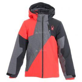 Spyder, Ambush, chaqueta de esquí, niños, gris/rojo