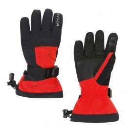Spyder, Boys overweb, guantes de esquí, niños, volcano rojo