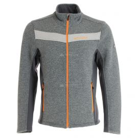 Spyder, Encore full zip fleece, chaleco, hombres, ebony gris