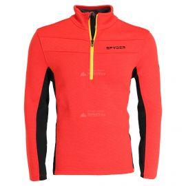 Spyder, Encore halfzip fleece, sudadera, hombres, volcano rojo/negro