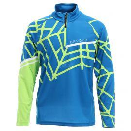 Spyder, Limitless hideout zip T-neck, jersey, niños, old glory azul