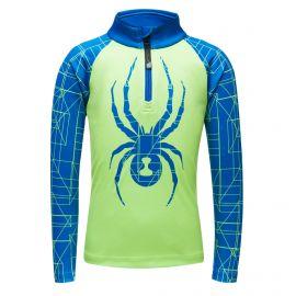 Spyder, Limitless maze zip T-neck, jersey, niños, mojito verde