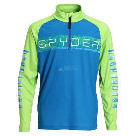 Spyder, Limitless peak zip T-neck, jersey, niños, old glory azul