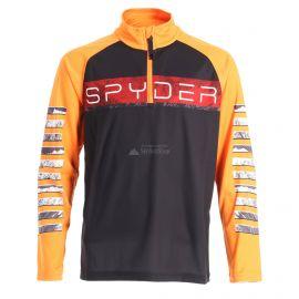 Spyder, Limitless peak zip T-neck, jersey, niños, negro