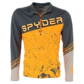 Spyder, Mandate zip T-neck, jersey, hombres, ebony gris/naranja