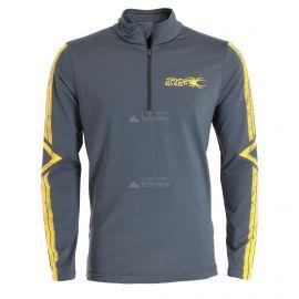 Spyder, Paramount zip T-neck, jersey, hombres, ebony gris