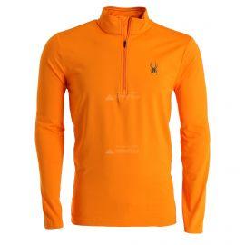 Spyder, Prospect Zip T-Neck, jersey, hombres, flare naranja