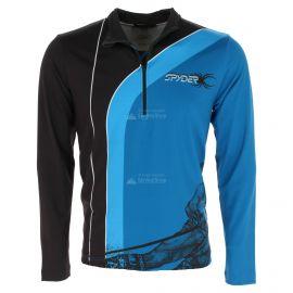 Spyder, Rival zip T-neck, jersey, hombres, azul/negro