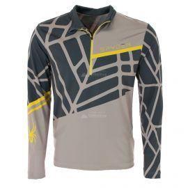 Spyder, Vital zip T-neck, jersey, hombres, alloy gris