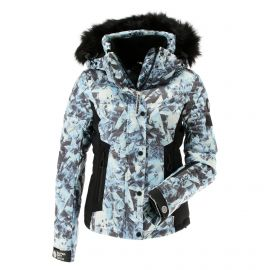 Superdry, Luxe Snow Puffer, chaqueta de esquí, mujeres, frosted ice azul