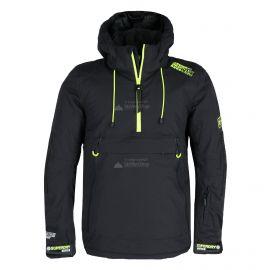 Superdry, SD Mountain Overhead Jacket, chaqueta de esquí, hombres, onyx negro