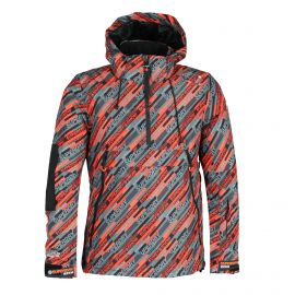 Superdry, SD Mountain Overhead Jacket, chaqueta de esquí, hombres, snow speed aop multicolor