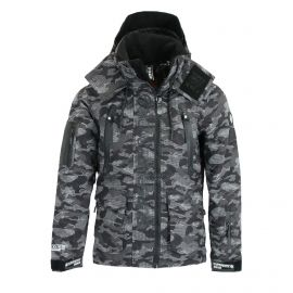 Superdry, Ultimate Snow Rescue, chaqueta de esquí, hombres, Dot Camo negro