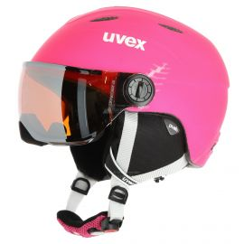 Uvex, Junior visor pro casco con visera niños mat rosa