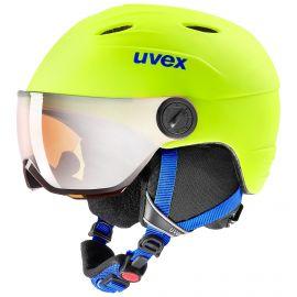 Uvex, Junior visor pro, casco con visera, niños, neon amarillo