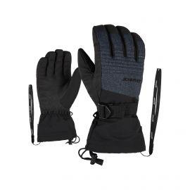 Ziener, Gannik AS, guantes de esquí, denim gris