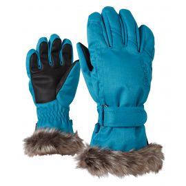 Ziener, Lim Girls, guantes de esquí, azul, niños, 4-15 años
