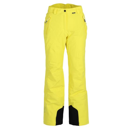 Icepeak, Freyung pantalones de esquí slim fit mujeres amarillo