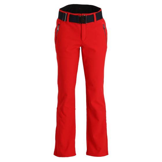 Luhta, Joentaus pantalones de esquí softshell mujeres classic rojo