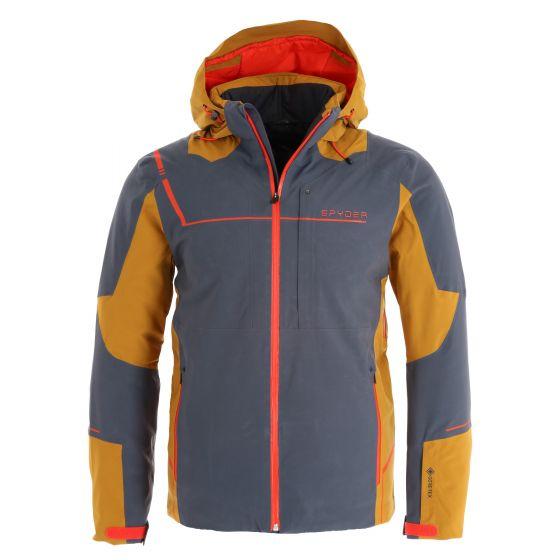 Spyder, Titan GTX chaqueta de esquí hombres ebony marrón/gris