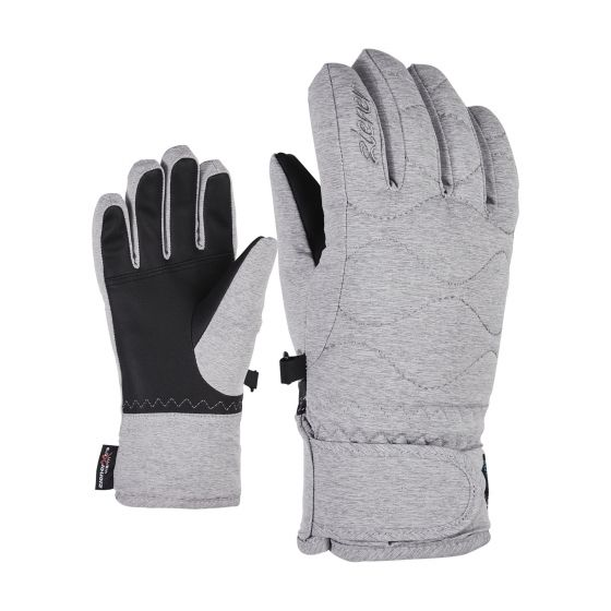 Ziener, Lanta As(R) Pr Girls Junior guantes de esquí niños light melange gris/blanco
