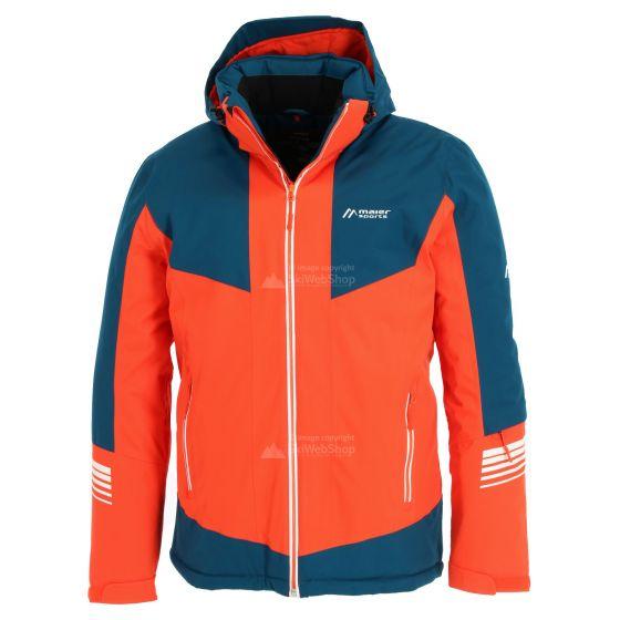 Maier Sports, Ahornbuehl, chaqueta de esquí, hombres, Tangerine tango naranja